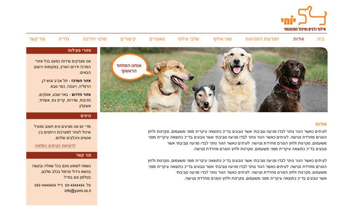 yomi dog trainer website design