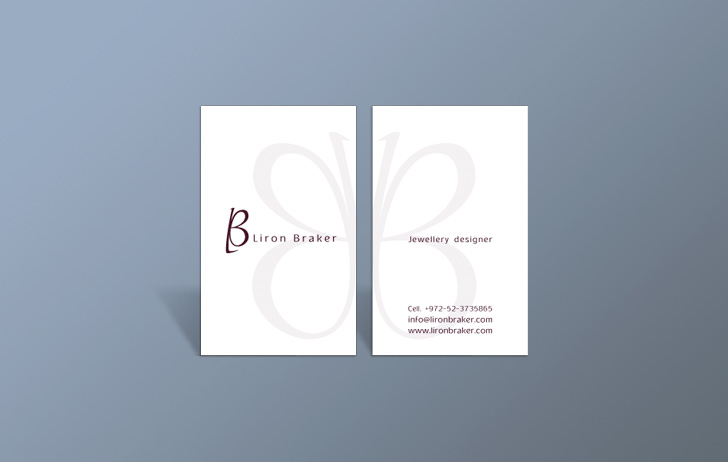 Two sided business card graphic design